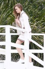 LILY-ROSE DEPP on the Set of a Photoshoot at a Beach in Malibu 04/04/2018