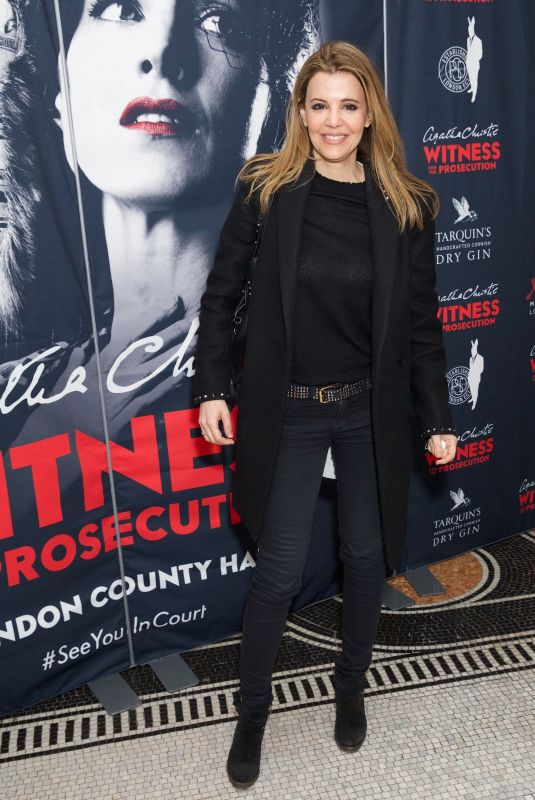 LINDA PAPADOPOULOS at Witness for the Prosecution by Agatha Christie Play in London 04/25/2018