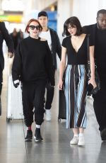 LINDSAY and ALI LOHAN at JFK Airport in New York 04/23/2018
