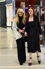 LINDSAY and DINA LOHAN Leaves Michael Lohans Birthday Dinner in New York 04/28/2018