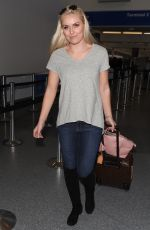 LINDSEY VONN at LAX Airport in Los Angeles 04/20/2018