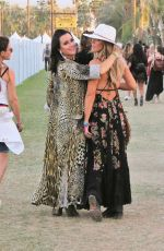 LISA RINNA and KYLE RICHARDS at 2018 Coachella Valley Music and Arts Festival 04/14/2018