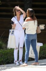 LISA RINNA in Ripped Jeans Out in Beverly Hills 04/10/2018