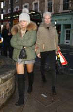 LOTTIE MOSS and Her Mother Inger Leaves Gola Restaurant in London 04/04/2018