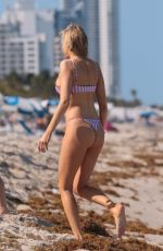 LOUISA WARWICK in Bikini at a Beach in Miami 04/12/2018