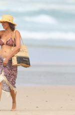 LUCIANA BARROSO in Bikini Top at a Beach in Byron Bay 03/29/2018
