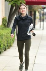 LUCY HALE Heading to a Gym in Los Angeles 04/04/2018