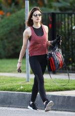 LUCY HALE Heading to a Workout in Los Angeles 04/03/2018
