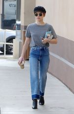 LUCY HALE in Jeans Out for Coffee in Los Angeles 04/04/2018