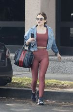 LUCY HALE Leaves Morning Workout at a Gym in Los Angeles 04/03/2018