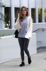 LUCY HALE Out and About in Pasadena 04/28/2018