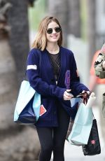 LUCY HALE Out Shopping in Los Angeles 04/07/2018