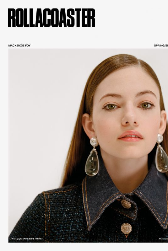 MACKENZIE FOY for Rollacoaster Magazine, Spring/Summer 2018