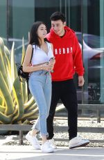 MADISON BEER and Zack Bia Out for Lunch in Los Angeles 04/21/2018