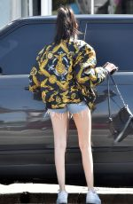 MADISON BEER in Denim SHorts Out out in Los Angeles 04/11/2018