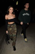 MADISON BEER Out for Dinner at Giorgio Baldi in Los Angeles 04/17/2018