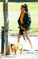 MADISON BEER Out with Her Dog in Los Angeles 04/18/2018