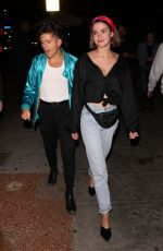 MAIA MITCHEL at Delilah Restaurant in West Hollywood 04/15/2018