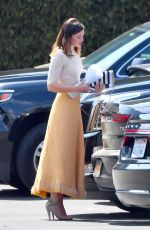 MANDY MOORE Heading to a Studio in Los Angeles 04/29/2018