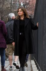 MARISKA HARGITAY on the Set of Law and Order: Special Victims Unit in New York 04/11/2018