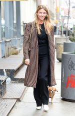 MARTHA HUNT Out with Her Dog in New York 04/11/2018