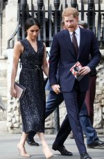 MEGHAN MARKLE and Prince Harry at Stephen Lawrence Memorial Service in London 04/23/2018
