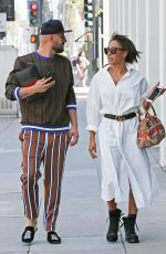 MELANIE BROWN and Gary Madatyan Out for Lunch in Beverly Hills 04/23/2018
