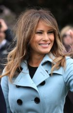 MELANIEA TRUMP at 140th White House Easter Egg Roll in Washington 04/02/2018