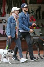 MELISSA BENOIST Out with Her Dogs in Vancouver 04/15/2018