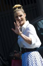MICHELLE HUNZIKER Out and About in Milan 04/20/2018