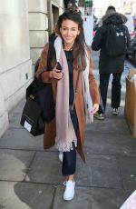 MICHELLE KEEGAN Leaves Bafta Nominations Awards Announcement in London 04/04/2018
