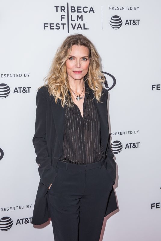 MICHELLE PFEIFFER at Scarface 35th Anniversary Cast Reunion at Tribeca Film Festival in New York 04/19/2018