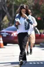 MILA KUNIS Out in Los Angeles 04/12/2018