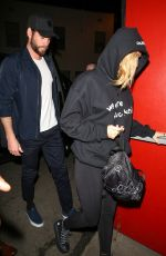 MILEY CYRUS Arrives at Troubadour in West Hollywood 04/11/2018