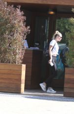 MILEY CYRUS Out for Lunch in Malibu 04/10/2018