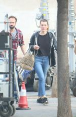 MILLA JOVOVICH Out in Barcelona 04/25/2018