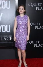 MILLICENT SIMMONDS at A Quiet Place Premiere in New York 04/02/2018