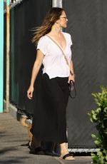 MINKA KELLY at a Pet Salon with Her Dog in Los Angeles 04/18/2018