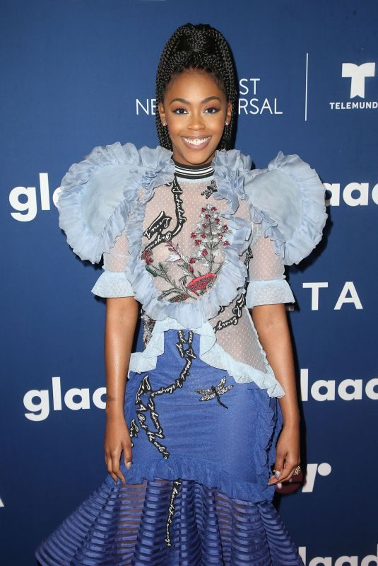 NAFESSA WILLIAMS at Glaad Media Awards Rising Stars Luncheon in Beverly Hills 04/11/2018