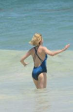 NAOMI WATTS in Swimsuit at a Beach in Mexico 04/02/2018