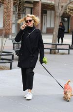 NAOMI WATTS Out with Her Dog in New York 04/17/2018