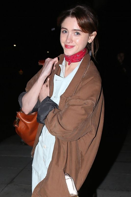 NATALIA DYER Out for Dinner in Beverly Hills 04/05/2018