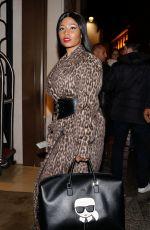 NICKI MINAJ Arrives at Her Hotel in Paris 04/04/2018