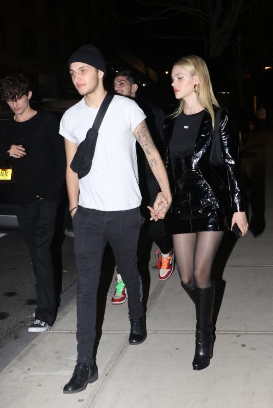 NICOLA PELTZ and Anwar Hadid Arrives at Gigi