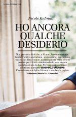 NICOLE KIDMAN in Io Donna Del Corriere Della Sera, April 2018 Issue