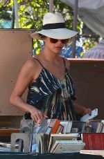 NICOLE SCHERZINGER Shopping at Melrose Trading Post in West Hollywood 04/08/2018