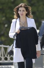 NIGELLA LAWSON on the Set of Extra! at Universal Studios in Los Angeles 04/19/2018