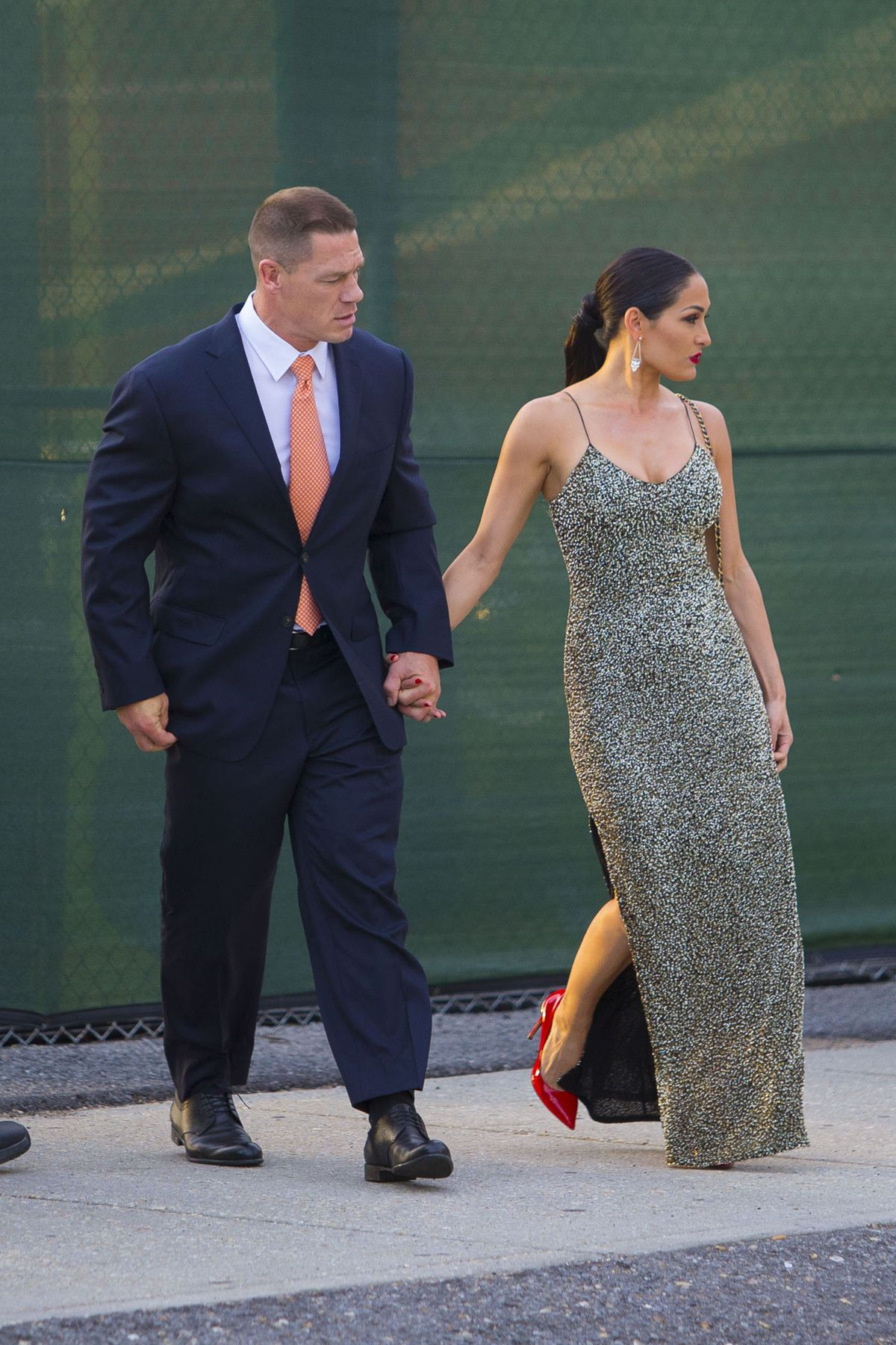 NIKKI BELLA and John Cena at WWE Wrestlemania 34 Hall Of ...