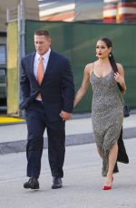 NIKKI BELLA and John Cena at WWE Wrestlemania 34 Hall Of Fame 2018 in New Orleans 04/07/2018