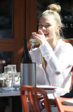NINA AGDAL Out for Lunch in New York 04/26/2018